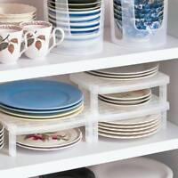 Dish Organizer Home Kitchen Bathroom Plastic Rack Drainer Holder Shelf Storage~