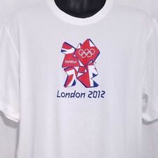 London 2012 Olympics Mens T Shirt Union Jack UK New With Tags White Size XL