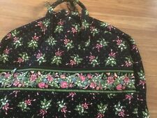 VERA BRADLEY Return to Happiness Black Pink Floral Garment Bag Large carry On