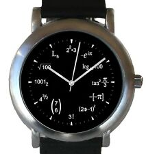 """""""Math Dial"""" Unisex Watch Has Physics Math Equations At Each Hour Indicator"""