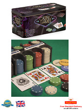 Casino Games Betting Set 200 Chips Playing Cards Home Gambling Dealer Poker Play