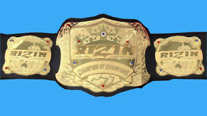 rizin mma wrestling fighting championship belt adult size replica 4mm