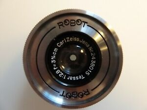 """""""Carl-Zeiss Jena""""  Objektiv  ROBOT Tessar 1: 2,8  F= 3,75"""