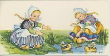 VINTAGE GIRLS PLAY DOLL SHOE POND PRINT 1 BANANAS FOSTER RECIPE NEW ORLEANS CARD