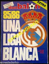 DON BALON EXTRA FUTBOL REAL MADRID 85-86 UNA LIGA BLANCA