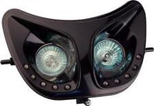 Double optiques avant noir Tun'R moto Derbi 50 Senda Neuf phare halogène et LED