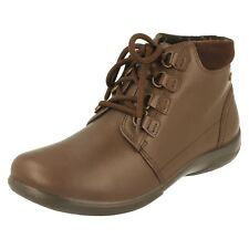 Padders Journey Ladies Womens Waterproof Leather Eee/eeee Wide Fit Ankle BOOTS Brown UK 7