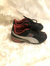 Puma Kids Shoes Size 8 Sneakers Athletic Shoes Black Red