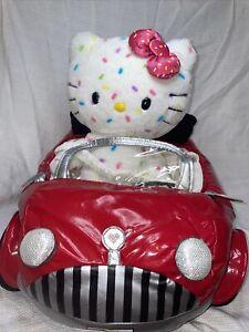 "Build A Bear Hello Kitty 40th Anniversary Plush White Confetti 17"" Retired & CAR"