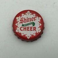 Vintage SHINER HOLIDAY CHEER Christmas Beer Bottle Cap Snow Flake   U6