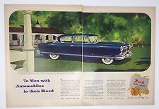 Original Print Ad 1952 NASH Golden Airflyte Ambassador Custom  Blue 2 Page