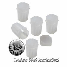 Medallion (Silver Round) Square Coin Tubes by Guardhouse, 39mm, 5 pack