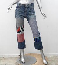 JUNYA WATANABE COMME DES GARCONS DENIM AD2015 Blue Patchwork Cropped Jeans S