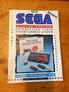 MasterTronic Sega Master System Games Catalog - Poster / Leaflet / Booklet 1988