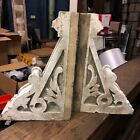Gorgeous pair c1870 victorian gingerbread eave corbel brackets 18 5 12 4 7 8