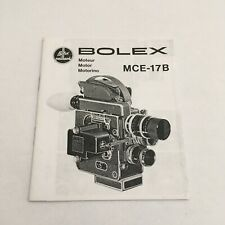 INSTRUCTIONS MANUAL -COPY- FOR BOLEX MCE-17B MOVIE CAMERA IN FIVE LANGUAGES