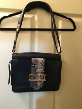 Authentic Mimco Navy Blue Leather Bag - Brand New