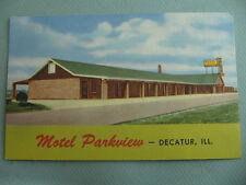 Motel Parkview DECATUR ILLINOIS IL Linen Postcard