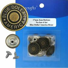 17 mm No-Sew Brass Replacement Jean Tack Buttons CT. 6 (707E8)