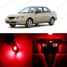 9 x Red LED Interior Light Package For Mazda Protege 1999 - 2003 + PRY TOOL