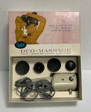 Oster Duo Massage Vibrator Model 206 4 Attachments Back Neck Shoulder Arms VTG