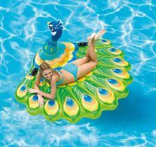 MEGA PFAU aufblasbar Schwimmtier Badeinsel Badetier Pool Lounge Intex 57250