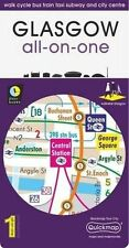 Glasgow All-On-One Map: Walk Cycle Bus Train Taxi Subway and City Centre, Quickm