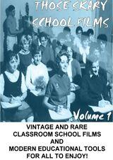 THOSE SKARY SCHOOL FILMS VOLUME 1  Vintage and Rare Classroom School Films DVD