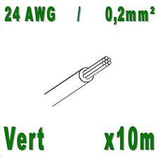 Fil de cablage 24AWG / 0,2mm² Vert 10m