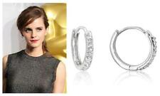 """Celebrity Style Jewelry"" Mini Hoop Earrings 1.3 Ct Cz Cubic Zirconia Pave Set"