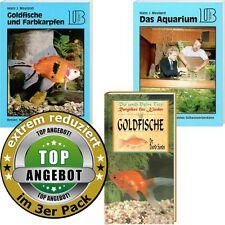 3x Ratgeber Aquaristik; Goldfische für Anfänger; Aquarium / Becken / Fischglas..