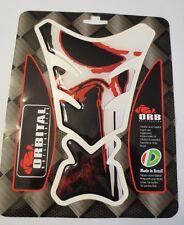 "ORBITAL TANK PROTECTOR GEL PAD - UNIVERSAL PUNISHER - BLACK/WHITE/RED 5"" x 7.2"""