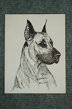 Great Dane Pen and Ink Stationary Cards, Note Cards, Greeting Cards. 10 pack.