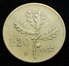 1957 Repubblica Italiana 20 lire
