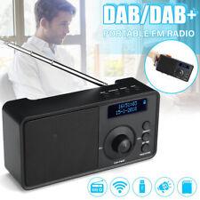 Retro LED Digital Display Alarm Clock Speakers DAB/DAB+FM Radio Bluetooth