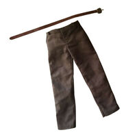 1:6 Male Clothing Brown Trousers Pants & Belt for Sideshow TC Dragon Figure