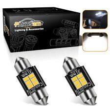 "2x Error Free 1.25"" LED Festoon DE3175 6428 Truck Map Backup License LED Bulbs"