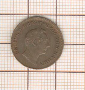Germany Baden 1/2 kreuzer 1852 Nice quality !