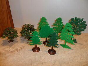 PLASTICVILLE O SCALE TREES   LOT  9 PCS.