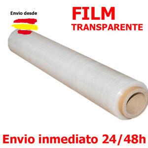 1 ROLLO FILM ESTIRABLE MANUAL TRANSPARENTE 23 µ FILM TRANSPAREN ESTIRABLE BOBINA