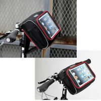 """Cycling Bike Bicycle Front Pannier Basket Handlebar Bag Touch Case for 7-8"""" PC"""