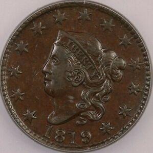 1819/8 1819 Coronet Head Large Cent ICG AU50