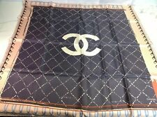 New 100% Auth CHANEL Silk Scarf Square Light Pink With Chanel Box & Tags
