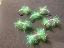 New! Salmon/Steelhead, Estaz Dual Egg & Sickle Assortment, Chartreuse/Pink, Bh