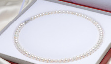 Single natural 8-9mm south sea round white pearl necklace 18inch 925s clasp AAA