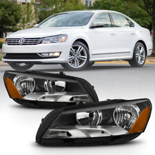 2012-2015 Volkswagen Passat {FACTORY STYLE} Chrome Headlamps Lights Assembly SET