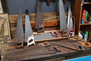 Bulk Vintage Antique Timber Wooden Box Saw Carpenters Tool Disston Tenon
