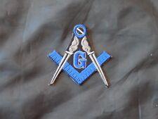 Masonic Square Compass Patch Iron Sew Cut Out Freemason Fraternity NEW!