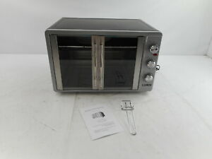 Luby Toaster Oven Countertop French Door Designed, Silver