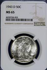 1943 - D NGC MS65 Walking Liberty Half Dollar!! #B14022